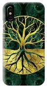 Golden Tree Of Life Yggdrasil On Malachite IPhone Case