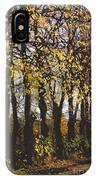 Golden Trees 1 IPhone Case