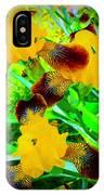 Golden Trio Of Iris IPhone Case