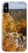 Golden Veil Over Rocks. Saxon Switzerland IPhone Case