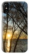 Golden Willow Sunrise - Greeting A Bright Day On The Lake IPhone Case