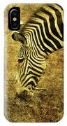 Golden Zebra  IPhone Case