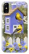 Goldfinch Garden Home IPhone X Case