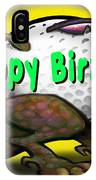 Golf A Saurus Birthday IPhone Case