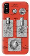 Golf Ball Patent Drawing Red IPhone Case