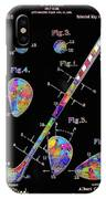 Golf Club Patent Drawing Watercolor 3 IPhone Case