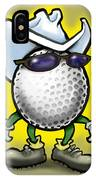 Golf Cowboy IPhone Case