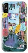 Gondola In A Venetian Canal IPhone Case