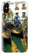 Gondoliers In Venice IPhone Case
