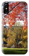 Gonzaga With Autumn Tree Canopy IPhone Case