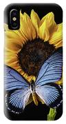 Gorgeous Blue Butterfly IPhone Case