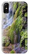 Gorman Falls At Colorado State Park II - San Saba Texas Hill Country IPhone Case