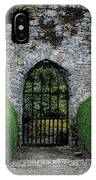 Gothic Entrance Gate, Walled Garden IPhone Case