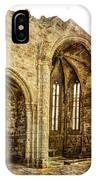 Gothic Temple Ruins - San Domingos - Vintage Version IPhone Case