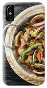 Gourmet Clam And Vegetable Seafood Stew In Spicy Tomato Sauce IPhone Case