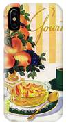Gourmet Cover Featuring A Centerpiece Of Peaches IPhone Case