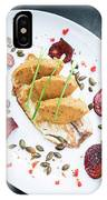 Gourmet Fish Fillet With Chickpea Curry Puree Meal IPhone Case
