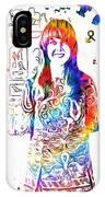 Grace Slick Jefferson Airplane Paint Splatter IPhone Case