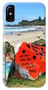 Graffiti At The Beach IPhone Case