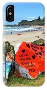 Graffiti At The Beach IPhone Case