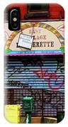 Graffiti Village Store Nyc Greenwich  IPhone Case