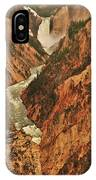 Grand Canyon Of The Yellowstone Vertical Panorama IPhone Case