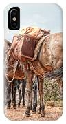 Grand Canyon Pack Mules IPhone Case