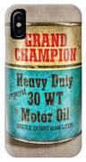Grand Champion Motor Oil IPhone Case