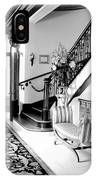 Grand Island Mansion Mosher Ranch 7 B And W IPhone Case