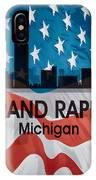 Grand Rapids Mi American Flag Squared IPhone Case