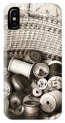 Grandma's Sewing Basket IPhone Case