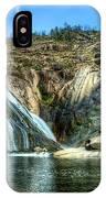 Granite Mountain Waterfall Panorama IPhone Case