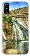 Granite Mountain Waterfall - Vintage Version IPhone Case