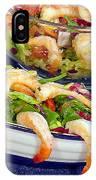 Grapefruit And Shrimp Salad IPhone Case