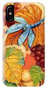 Grapes And Dragonfly IPhone Case