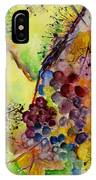 Grapes And Leaves IIi IPhone Case