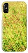 Grass Field Landscape Illuminated By Sunset IPhone Case