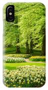 Grass Lawn With Daffodils  IPhone Case