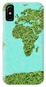 Grass World Map IPhone Case