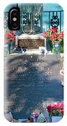 Grave Site At Graceland The Home Of Elvis Presley, Memphis, Tennessee IPhone Case