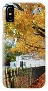 Graveyard In Autumn IPhone Case