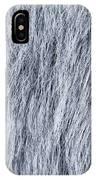 Gray Fake Fur Horizontal IPhone Case