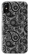 Gray Paisley Design IPhone Case