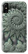Gray Spiral IPhone Case