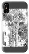 Grayscale Palm Trees Pen And Ink IPhone Case