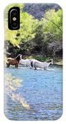 Grazing Salt River Horses IPhone Case