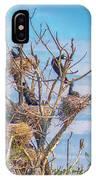 Great Black Cormorants Colony - Danube Delta IPhone Case