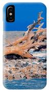 Great Blue Driftwood IPhone Case
