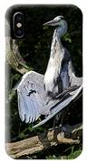 Great Blue Heron Enjoying The Sun IPhone Case