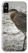 Great Blue Heron In The Snow IPhone Case